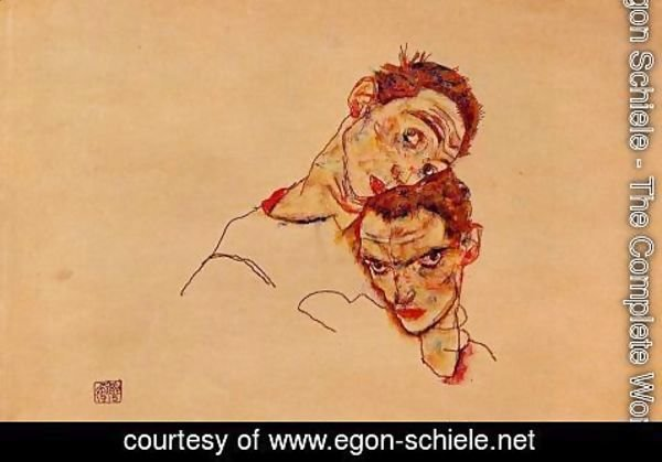 Egon Schiele - Double Self Portrait