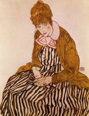 Egon Schiele - Edith Schiele  Seated
