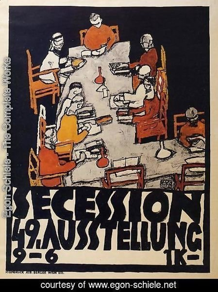 Egon Schiele - Forty Ninth Secession Exhibition Poster