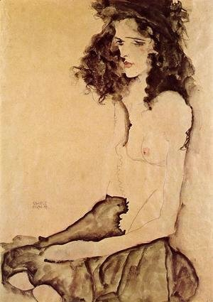 Egon Schiele - Girl In Black