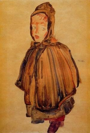 Egon Schiele - Girl With Hood