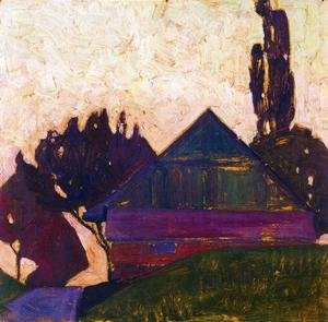 Egon Schiele - House Between Trees I