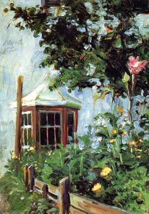 Egon Schiele - House With A Bay Window In The Garden