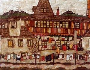 Egon Schiele - House With Drying Laundry
