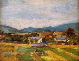 Egon Schiele - Landscape In Lower Austria