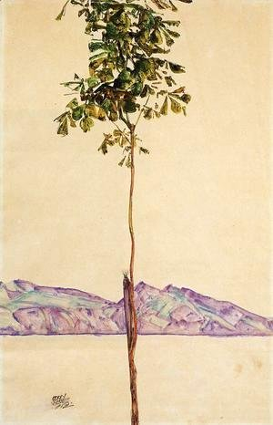 Egon Schiele - Little Tree Aka Chestnut Tree At Lake Constance