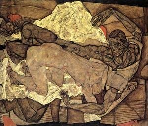 Egon Schiele - Lovers Man And Woman I