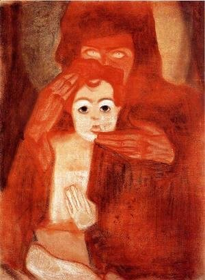 Egon Schiele - Mother And Child Aka Madonna