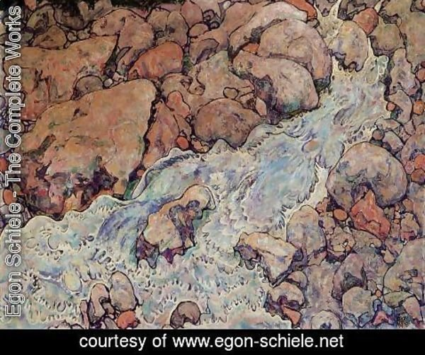 Egon Schiele - Mountain Torrent