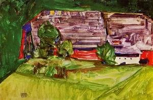 Egon Schiele - Peasant Homestead In A Landscape