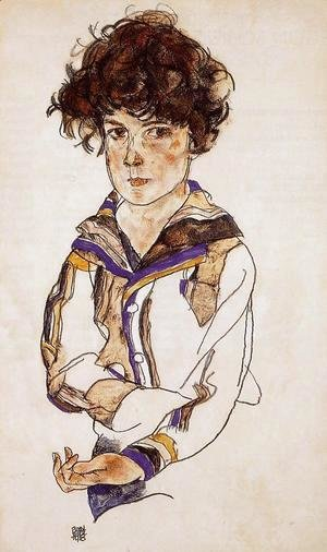 Egon Schiele - Portrait Of A Boy