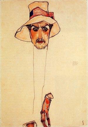 Portrait Of A Man With A Floppy Hat Aka Portrait Of Erwin Dominilk Osen