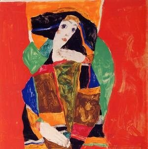 Egon Schiele - Portrait Of A Woman