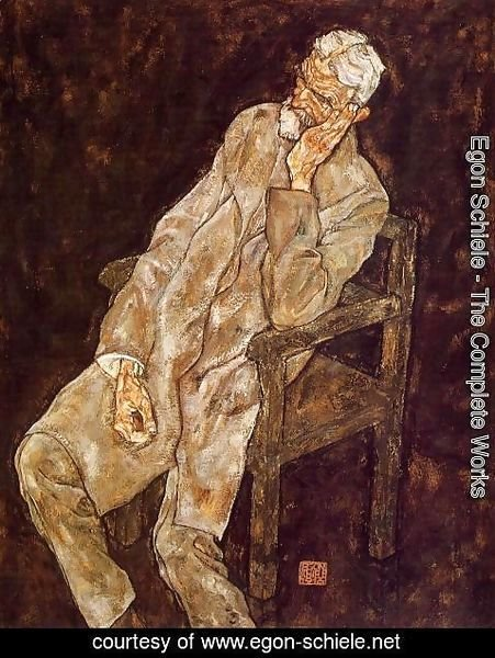 Egon Schiele - Portrait Of An Old Man Aka Johann Harms