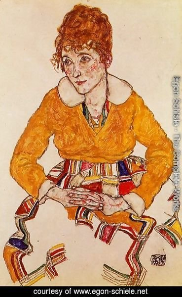 Egon Schiele - Portrait Of The Artists Wife