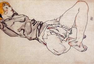 Egon Schiele - Reclining Woman With Blond Hair2
