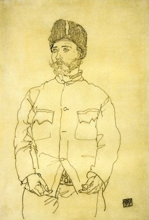 Egon Schiele - Russian Prisoner Of War With Fur Hat