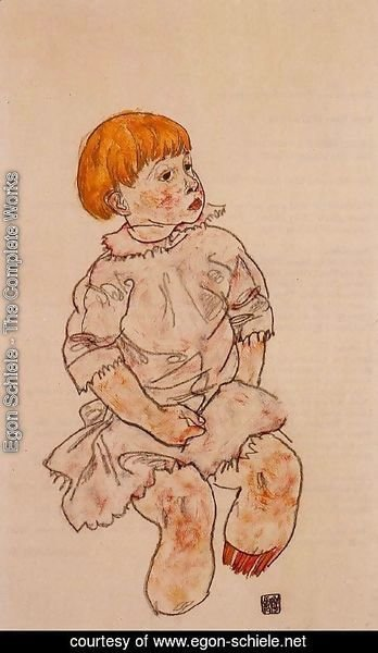 Egon Schiele - Seated Child Anton Prschka  Jr
