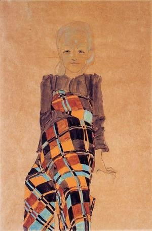 Egon Schiele - Seated Girl