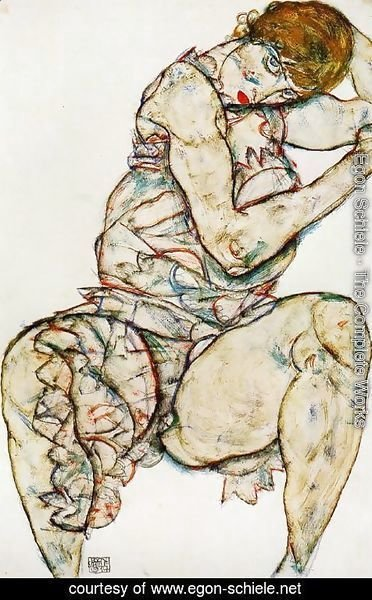 Egon Schiele - Seated Woman With Her Left Hand In Her Hair