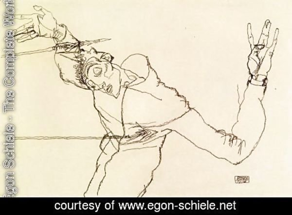 Egon Schiele - Self Portrait As St  Sebastian