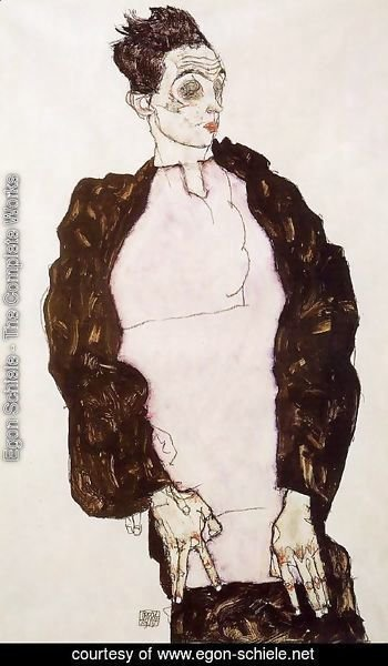 Egon Schiele - Self Portrait In Lavender And Dark Suit  Standing