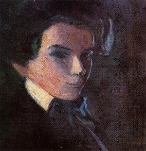 Egon Schiele - Self Portrait  Facing Right