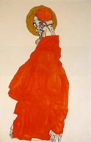 Egon Schiele - Standing Figure With Halo