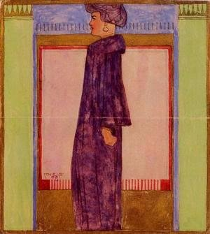 Egon Schiele - Standing Woman In Profile