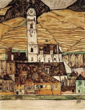 Egon Schiele - Stein On The Danube