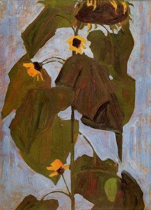 Egon Schiele - Sunflower I