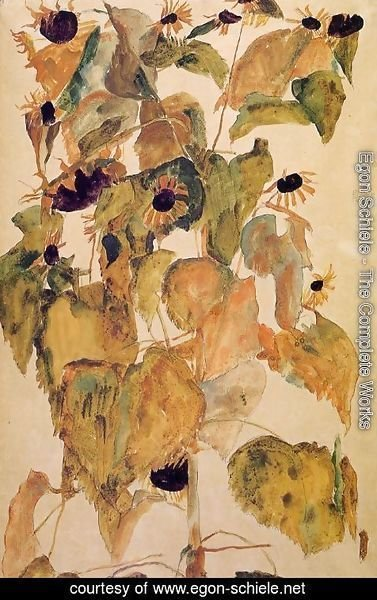 Egon Schiele - Sunflowers2