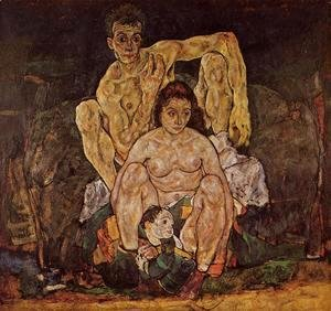 Egon Schiele - The Family