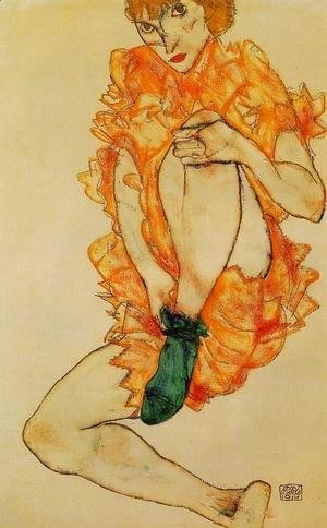 Egon Schiele - The Green Stocking