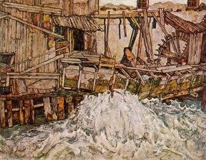Egon Schiele - The Mill