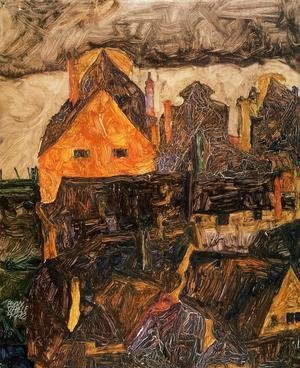 Egon Schiele - The Old City I Aka Dead City V