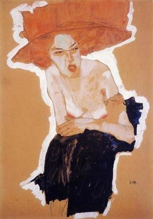 Egon Schiele - The Scornful Woman