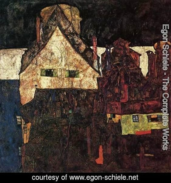 Egon Schiele - The Small City Aka Dead City VI