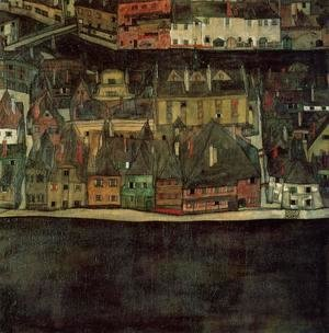 Egon Schiele - The Small City II