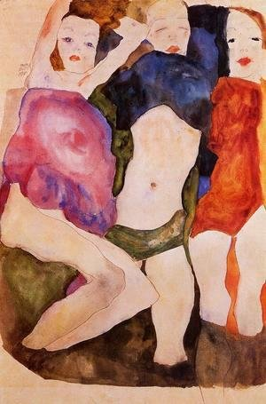 Egon Schiele - Three Girls