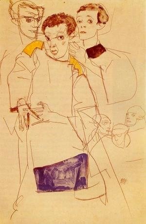 Egon Schiele - Triple Self Portrait