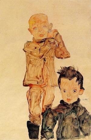 Egon Schiele - Two Boys