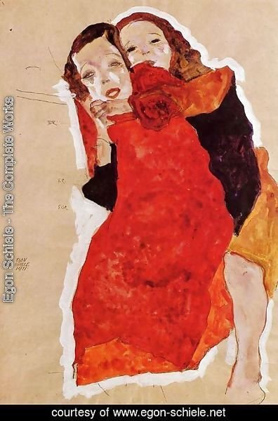 Egon Schiele - Two Girls