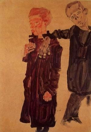 Egon Schiele - Two Guttersnipes