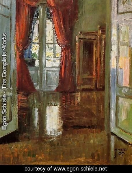 Egon Schiele - View Into The Apartment Of Leopold And Marie Czihaczek
