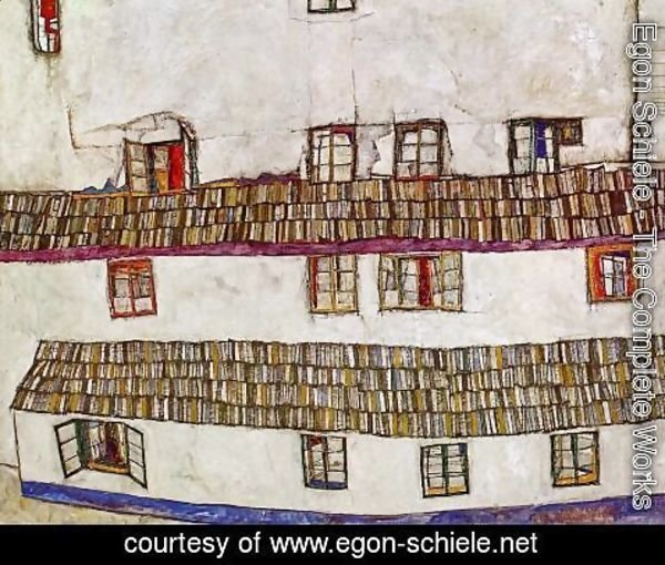 Egon Schiele - Windows Aka Facade Of A House
