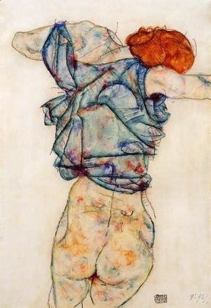 Egon Schiele - Woman Undressing
