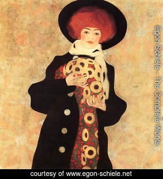 066c4fbbe6a46 Egon Schiele - The Complete Works - Woman With Black Hat - egon ...