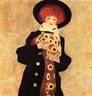 Egon Schiele - Woman With Black Hat