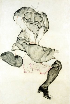 Egon Schiele - Woman With Black Stockings